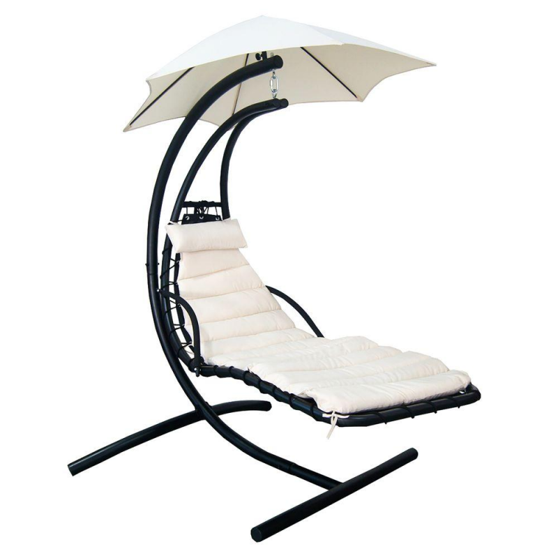 Hanging Lounge w/ Shade Canopy in Canvas Beige (NU3215)