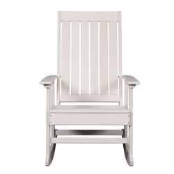 Blue Wave Ez-Care Tek-Wood Adirondack Rocker Chair - White (NU6915)