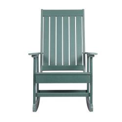 Blue Wave Ez-Care Tek-Wood Adirondack Rocker Chair - Hunter Green (NU6916)