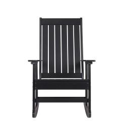 Blue Wave Ez-Care Tek-Wood Adirondack Rocker Chair - Black (NU6914)