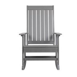 Blue Wave Ez-Care Tek-Wood Adirondack Rocker Chair - Slate Grey (NU6913)
