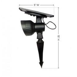GamaSonic Progressive Solar Spotlight - Warm White LED (GS-103-WW)