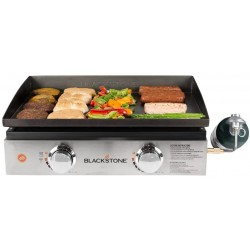 Blackstone 22 in. Tabletop Griddle with Stainless Steel Front Plate Without Hood (1666)