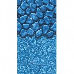 Bluewave 27 ft. Round Boulder Swirl Overlap Liner - NL364407