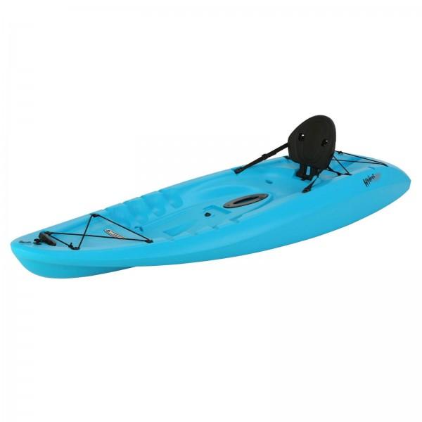 Lifetime 8 5 ft hydros plastic kayak w paddle glacier for Lifetime fishing kayak