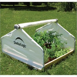 ShelterLogic 4x4x2'4 Peak Raised Bed Greenhouse - Roll-Up (70619)