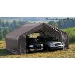 ShelterLogic 22x28x11 Peak Style Shelter, Grey (78731)