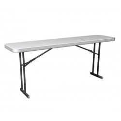 Lifetime Commercial Folding 6 ft Seminar Table - White Granite (80176)