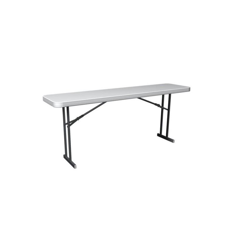 Lifetime Commercial Folding 6 ft Seminar Table (White Granite) 80176
