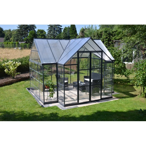 Palram 12x8 chalet greenhouse kit hg5400 for Better homes and gardens greenhouse