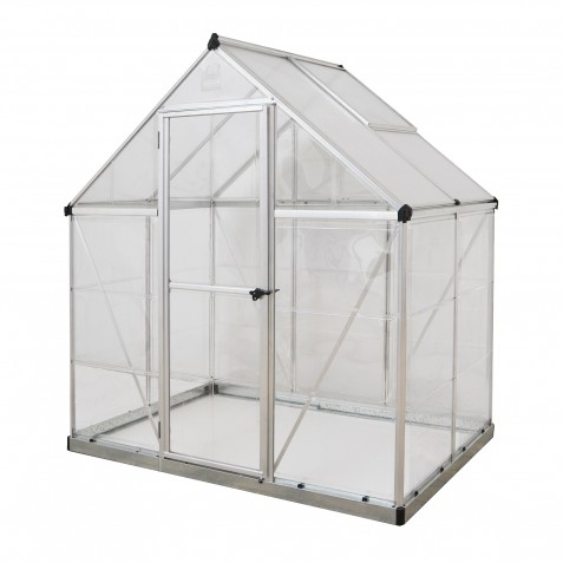 Palram 6x4 Hybrid Greenhouse Kit - Silver (HG5504)