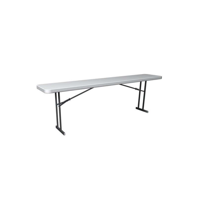 Lifetime Commercial Folding 8 ft Seminar Table - White Granite (80177)