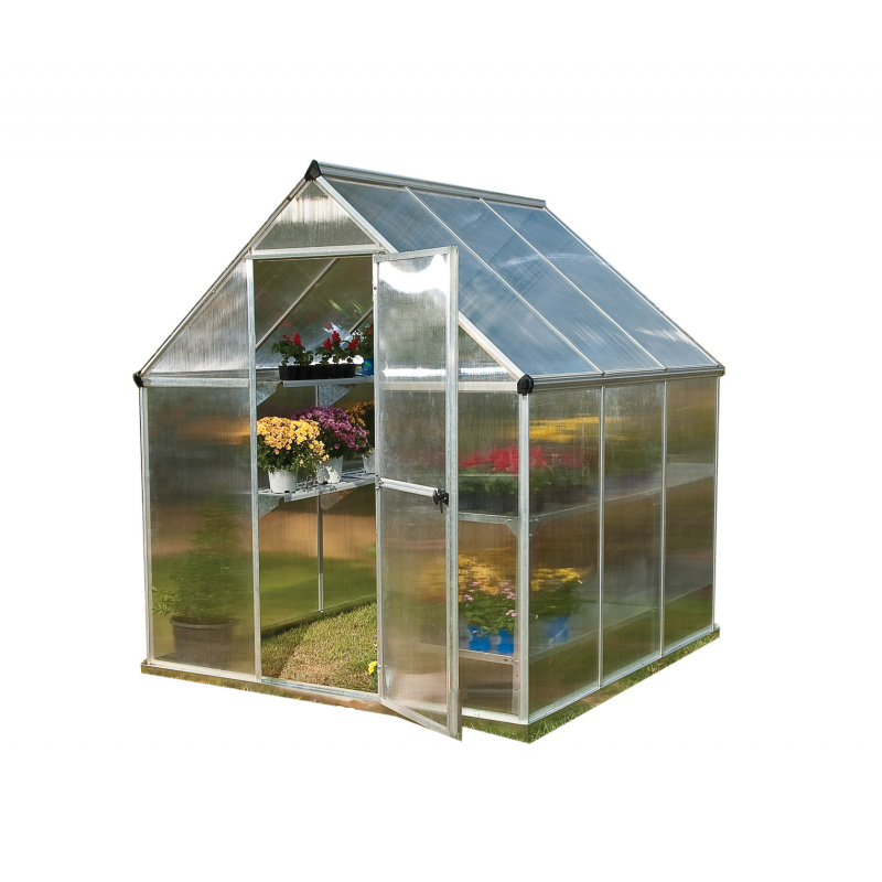 Palram 6x6 Mythos Hobby Greenhouse Kit - Silver  (HG5006)