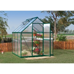 Palram 6x6 Mythos Hobby Greenhouse Kit - Green (HG5006G)