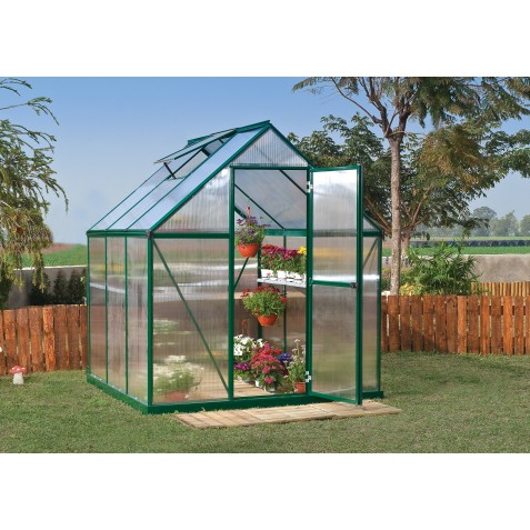 Palram 6x6 Mythos Hobby Greenhouse Kit - Green (HG5006G)