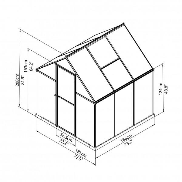 palram 6x6 mythos hobby greenhouse kit