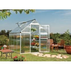 Palram 6x8 Mythos Hobby Greenhouse Kit - Silver (HG5008)