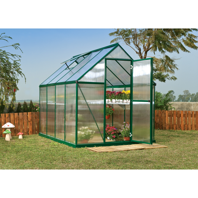 Palram 6x8 Mythos Hobby Greenhouse Kit - Green (HG5008G)