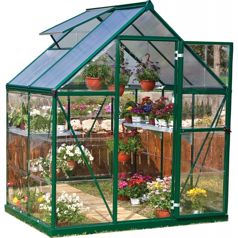 Palram 6x4 Hybrid  Greenhouse Kit - Green (HG5504G)