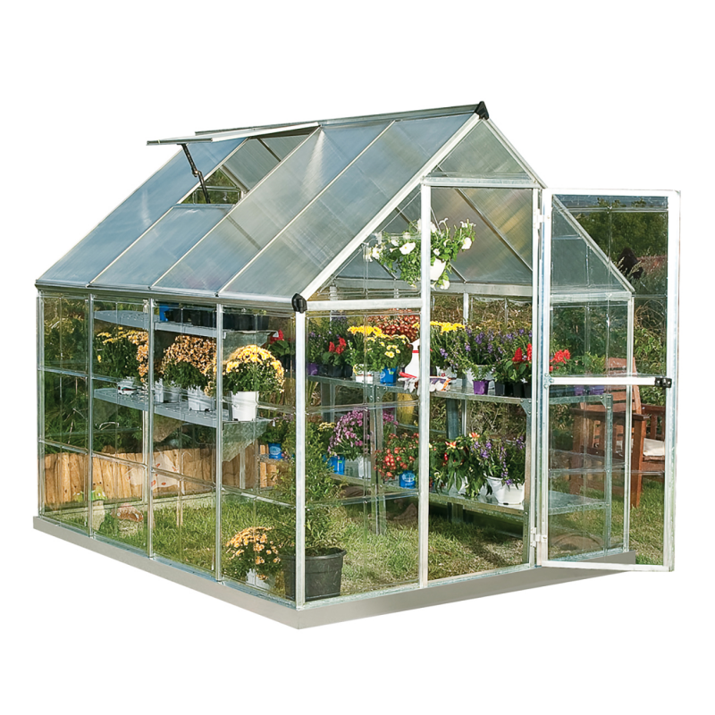 Palram 6x8 Hybrid Greenhouse Kit - Silver (HG5508)