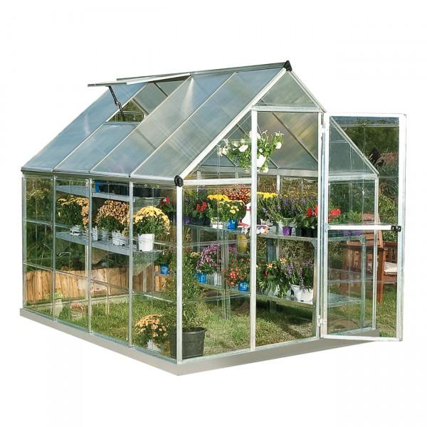 Palram 6x8 Hybrid Greenhouse Kit Silver Hg5508