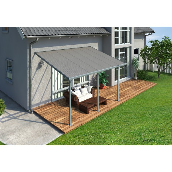 Palram 10x14 Feria Patio Cover Kit Gray Hg9414