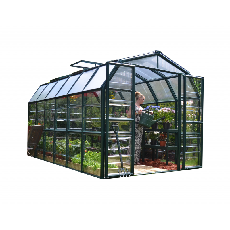 Rion 8x12 Grand Gardener 2 Greenhouse Kit - Clear (HG7212C)