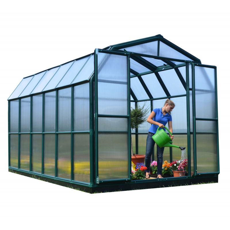 Rion 8x12  Grand Gardener 2  Greenhouse Kit - Twin Wall (HG7212)