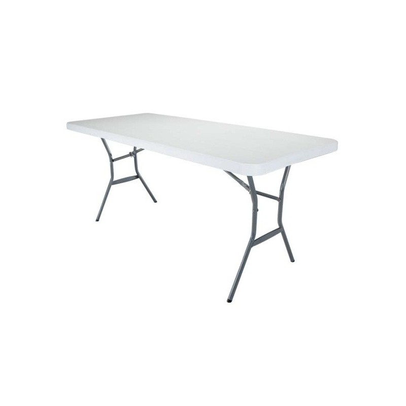 Lifetime 6 ft. Light Commercial Fold-In-Half Table with Handle 25011