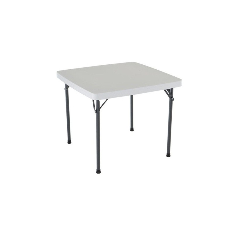 Lifetime Light Commercial 37 in. Square Folding Card Table - White (22315)