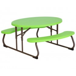 Lifetime Kids Oval Folding Picnic Table (Lime) 60132
