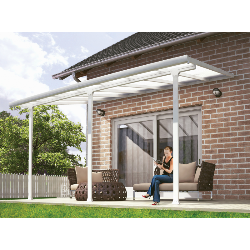Palram 13x40 Feria Patio Cover Kit - White (HG9240)
