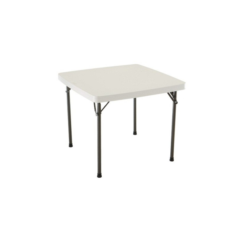 Lifetime 37 in. Square Folding Card Table - Almond (22301)