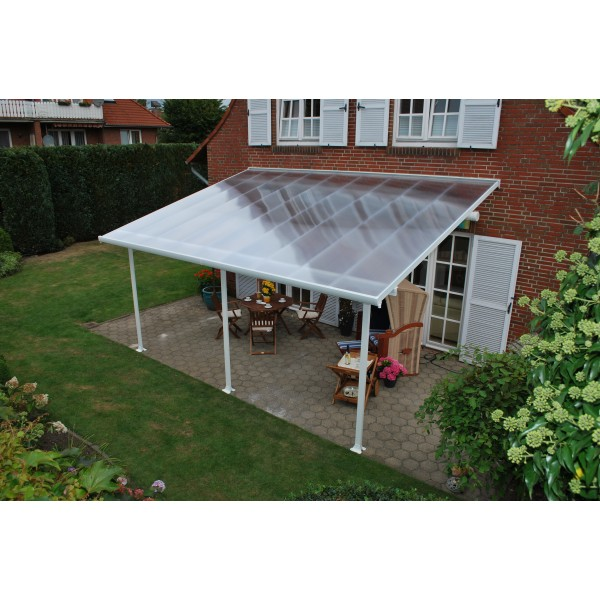 Lean To Patio Covered Wood: Palram 13x28 Feria Patio Cover Kit