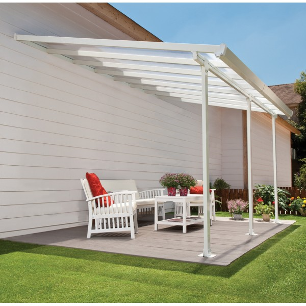 Palram 13x26 Feria Patio Cover Kit   White (HG9226)