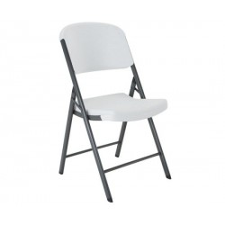 Lifetime Commercial Contoured Folding Chair Single Pack (White) 22802