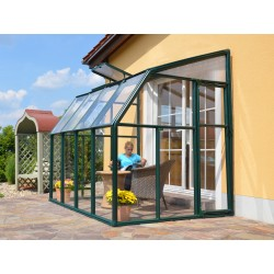 Rion 6x8 Sun Lounge 2 - Sunroom Greenhouse Kit - Green (HG7408)