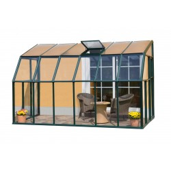 Rion 6x12 Sun Lounge 2-Sunroom Greenhouse Kit - Green (HG7412)