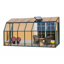 Rion 6x14 Sun Lounge 2 - Sunroom Greenhouse Kit - Green (HG7414)