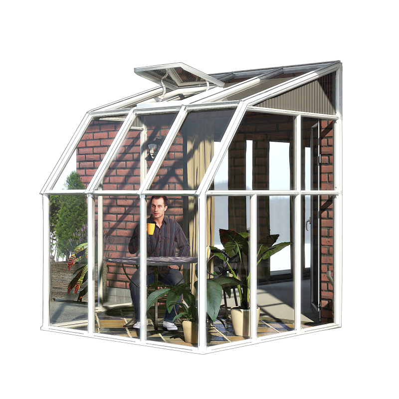 Rion 6x6 Sun Room 2 - Greenhouse Kit - White (HG7506)