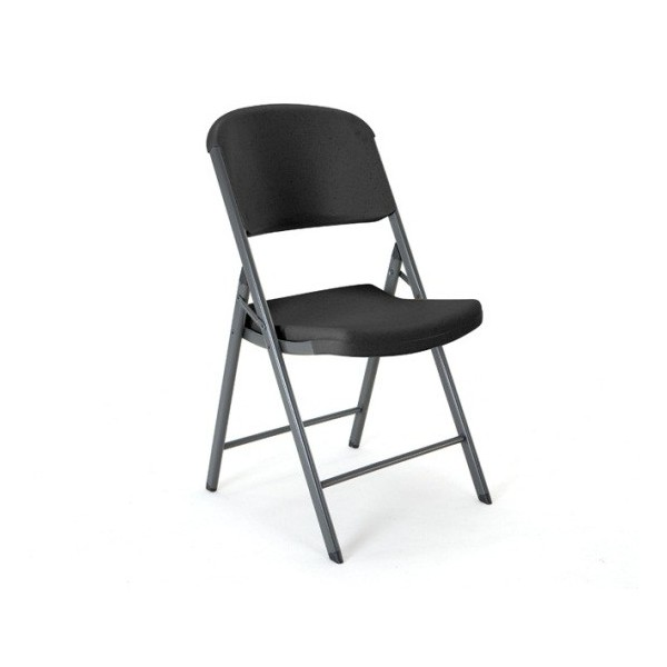 Lifetime 4 Pack mercial Contoured Folding Chairs Black