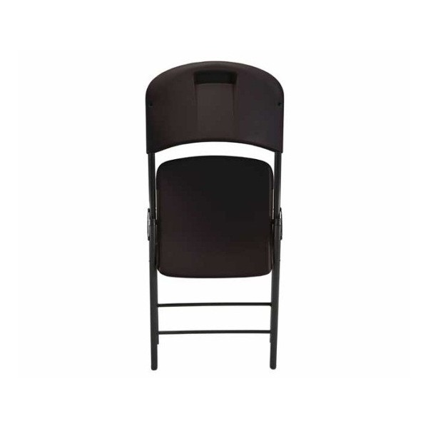 lifetime 4 pack commercial contoured folding chairs black 80187