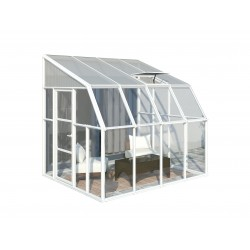 Rion 8x8 Sun Room 2 Greenhouse Kit - White (HG7608)