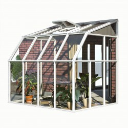 Rion 6x8 Sun Room 2 - Greenhouse Kit - White (HG7508)