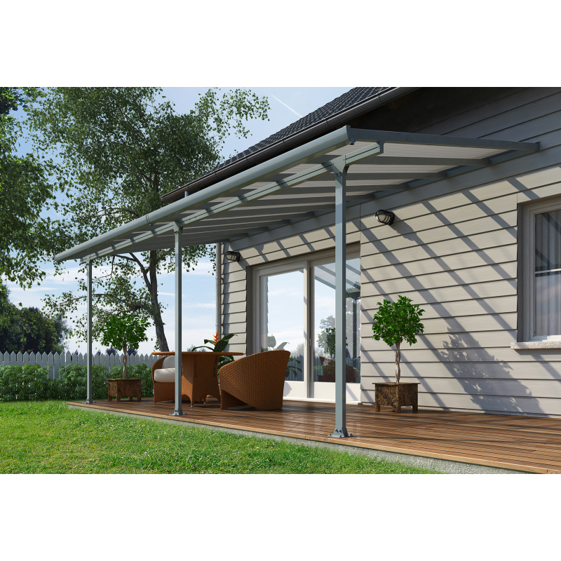 Palram 10x60 Feria Patio Cover Kit - Gray (HG9460)