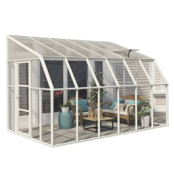 Rion  8x12 Sun Room 2 Greenhouse Kit - White (HG7612)