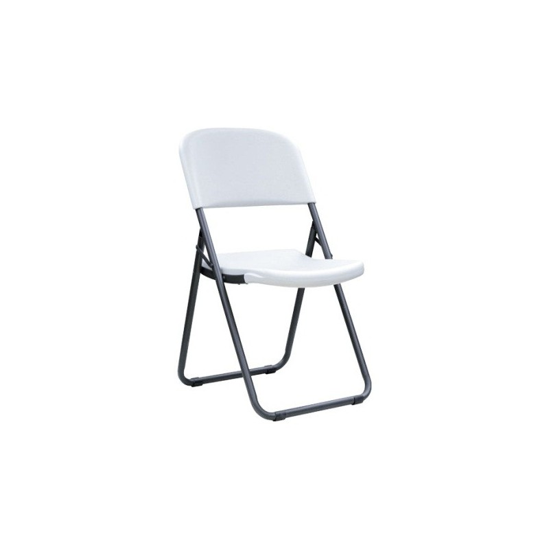 Lifetime 4-Pack Light Commercial Loop Leg Contoured Folding Chairs - White (80155)