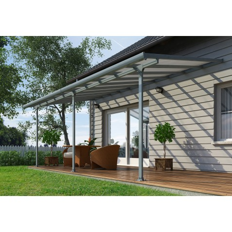 Palram 10x38 Feria Patio Cover Kit - Gray (HG9438)