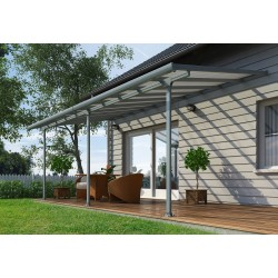 Palram 10x34 Feria Patio Cover Kit - Gray (HG9434)