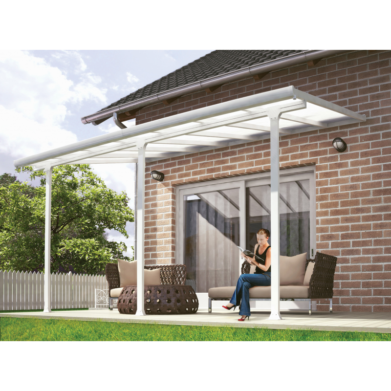 Palram 10x60 Feria Patio Cover Kit - White (HG9360)